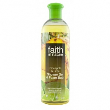 Faith - Gel de dus cu Ananas si Lime - 400 ml