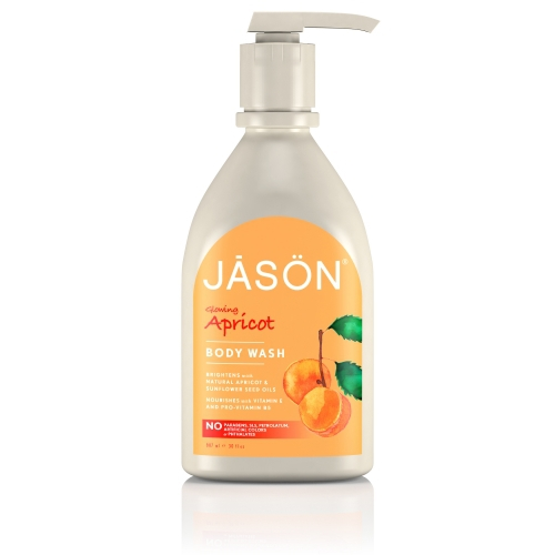Gel de dus satinat, cu caise,  900ml,  Jason