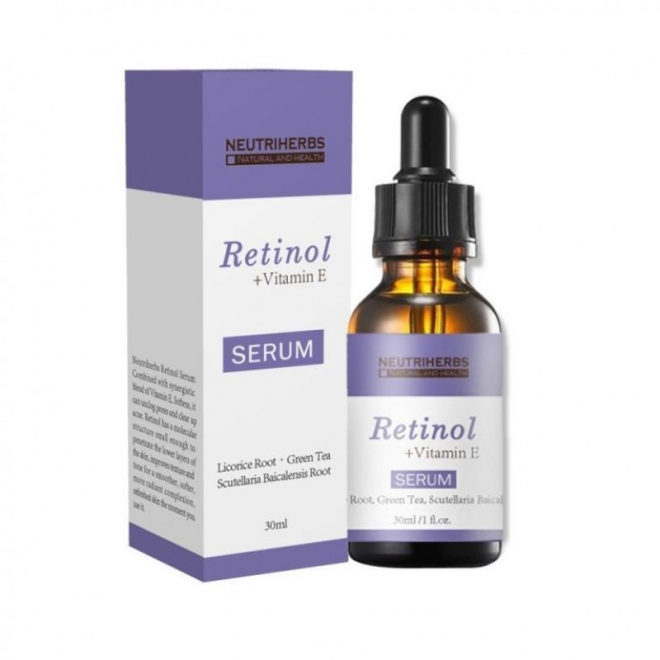 Neutriherbs - Serum cu Retinol si Vitamina E 100 % Natural