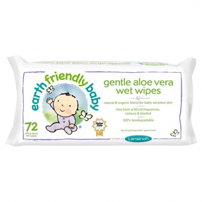 Servetele umede Earth Friendly Baby cu musetel si aloe vera, 72buc