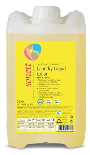 Detergent ecologic lichid pt. rufe colorate 5L Sonett
