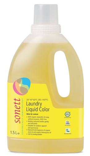 Detergent ecologic lichid pt. rufe colorate 1.5L Sonett